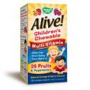 ALIVE / АЛАЙВ / Дъвчащи Мултивитамини за деца / 1.55 гр. х 120 таблетки